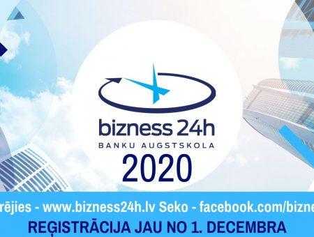 """""""Bizness24h 2020"""" reģistrācija ir atklāta!"""