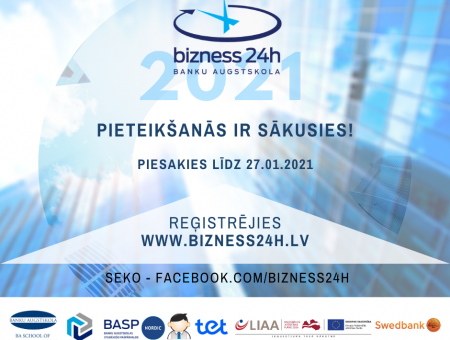 """Pieteikšanās konkursam """"Bizness24h"""" ir sākusies!"""